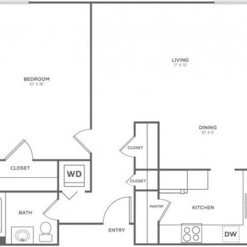 Tatoosh | 1 bed 1 bath | from 725 square feet