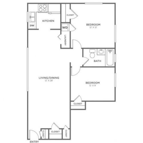 Lummi | 2 bed 1 bath | from 819 square feet
