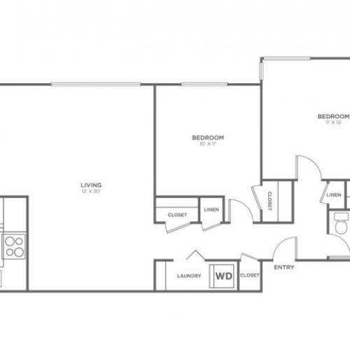 Lopez | 2 bed 1 bath | from 848 square feet