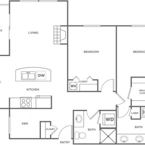 Orcas w/ Den | 2 bed 2 bath | from 1178 square feet
