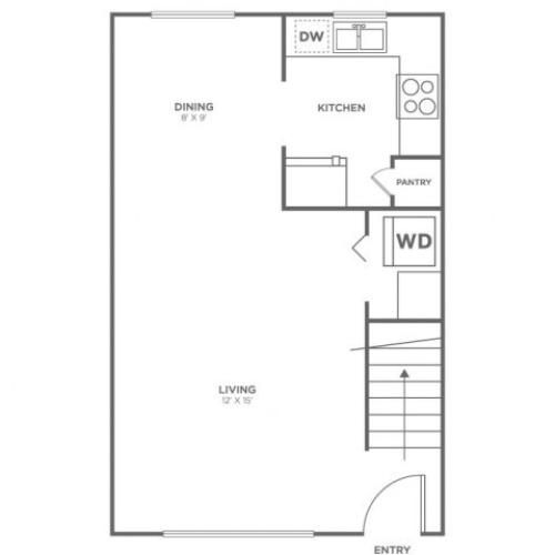 Bainbridge 1st floor | 2 bed 1 bath | from 760 square feet