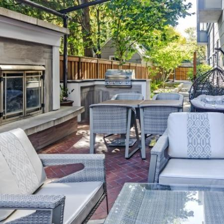 Outdoor Seating Area w/BBQ and Fireplace