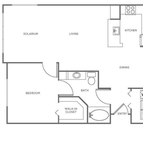 A3P | 1 bed 1 bath | from 943 square feet