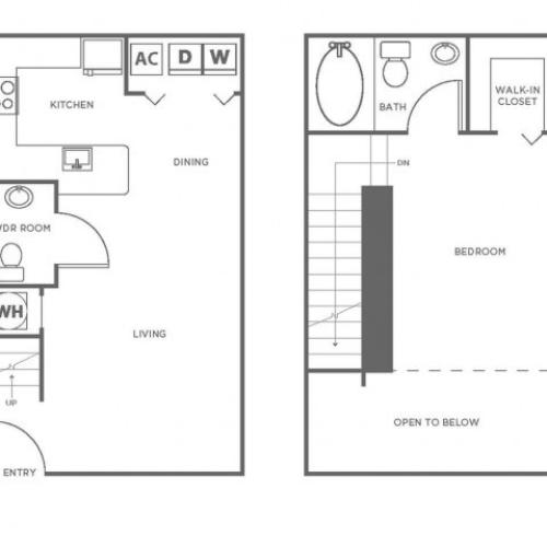 A5P | 1 bed 1.5 bath | from 839 square feet