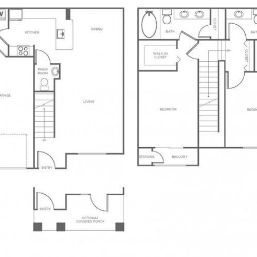 B1P | 2 bed 2.5 bath | from 1328 square feet
