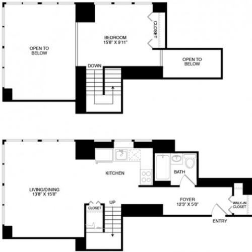 S13 | Studio1 bath | from 835 square feet