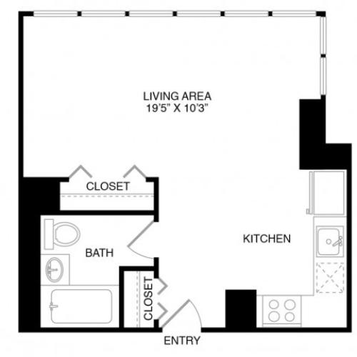 S1 | Studio1 bath | from 745 square feet