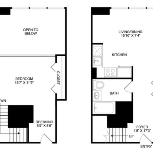 S10 | Studio1 bath | from 798 square feet