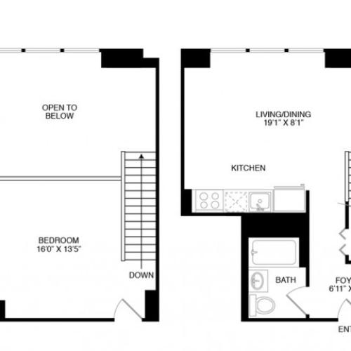 S3 | Studio1 bath | from 723 square feet