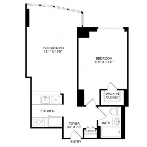 A4 | 1 bed 1 bath | from 664 square feet