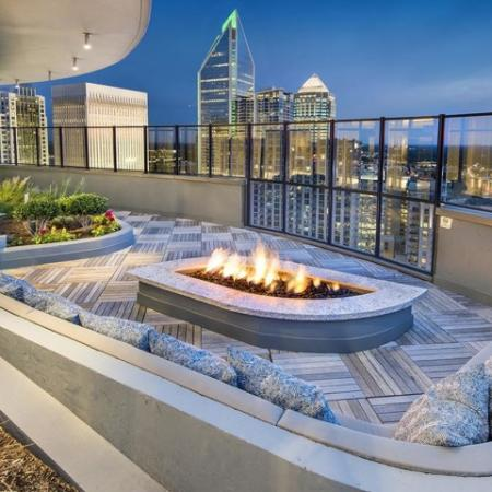 Rooftop Fire lounge