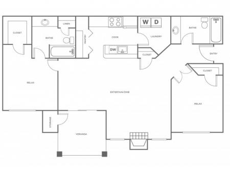 B2R   2 bed 2 bath   from 1158 square feet