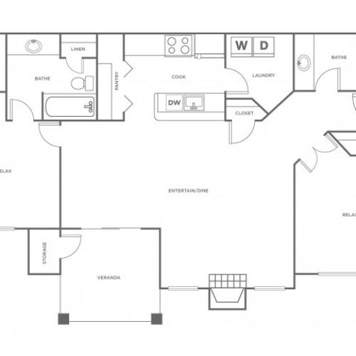 B2R | 2 bed 2 bath | from 1158 square feet