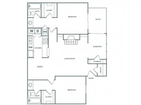 2AR - 2 Bedroom - Luxe | 2 bed 2 bath | from 1270 square feet