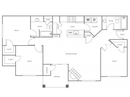 C1R   3 bed 2 bath   from 1367 square feet