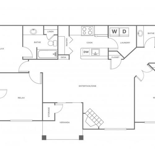 C1R | 3 bed 2 bath | from 1367 square feet