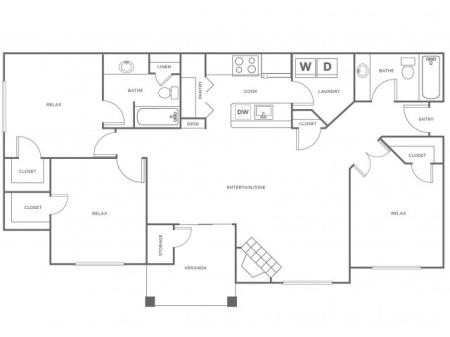 C1 - 1367   3 bed 2 bath   from 1367 square feet