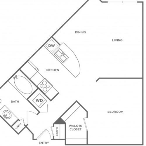 Aqua | 1 bed 1 bath | from 679 square feet