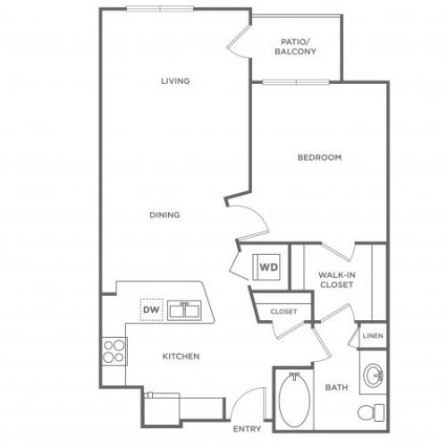 Blush | 1 bed 1 bath | from 759 square feet