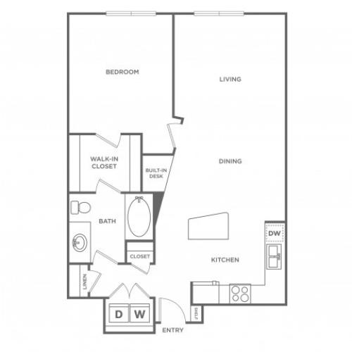 Crimson | 1 bed 1 bath | from 802 square feet