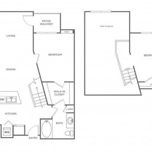 Fuchsia | 2 bed 1 bath | from 937 square feet