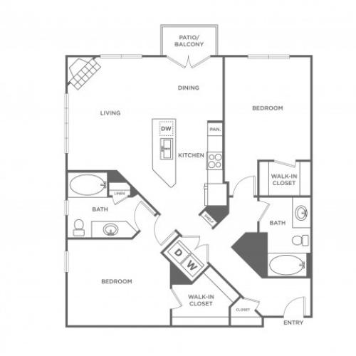 Mahogany | 2 bed 2 bath | from 1123 square feet