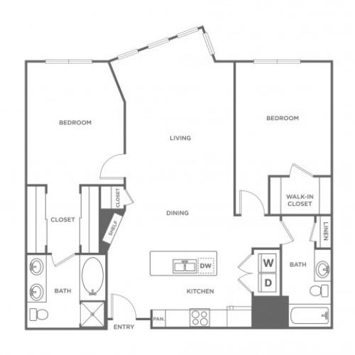 Orchid | 2 bed 2 bath | from 1136 square feet