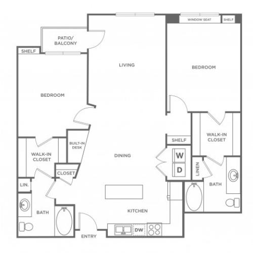 Pearl | 2 bed 2 bath | from 1170 square feet