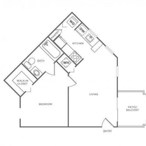 A1 Diamond | 1 bed 1 bath | from 590 square feet