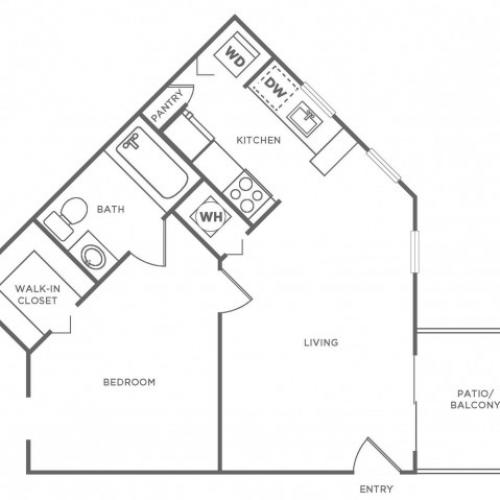 A1 Platinum | 1 bed 1 bath | from 590 square feet