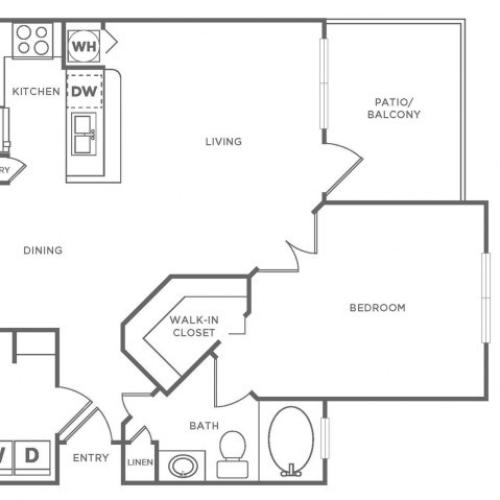 A2 Diamond | 1 bed 1 bath | from 840 square feet