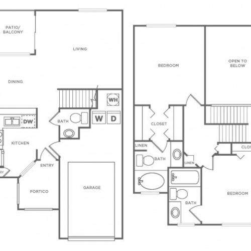 TH Standard | 2 bed 2 bath | from 1220 square feet