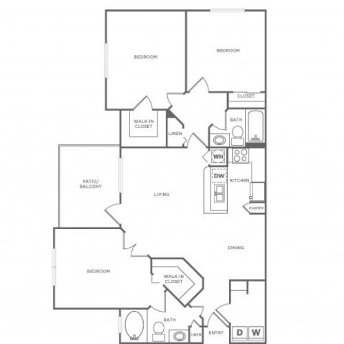C Standard | 3 bed 2 bath | from 1370 square feet