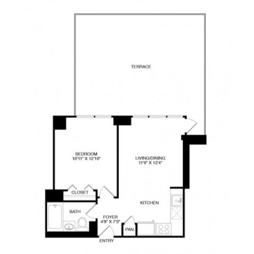 S9 | Studio1 bath | from 771 square feet