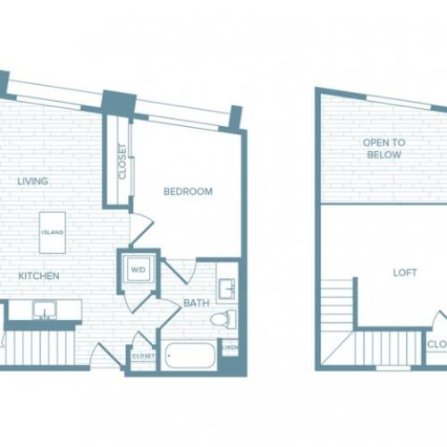 A05L | 1 bed 1 bath | from 788 square feet