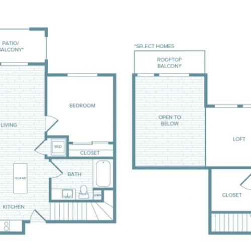 A03L | 1 bed 1 bath | from 971 square feet