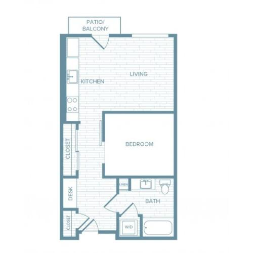 A13 | 1 bed 1 bath | from 603 square feet