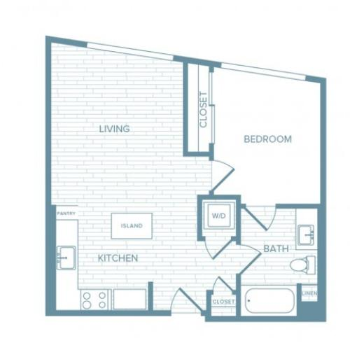 A05 | 1 bed 1 bath | from 625 square feet