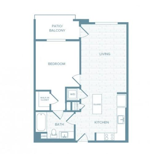 A07 | 1 bed 1 bath | from 724 square feet
