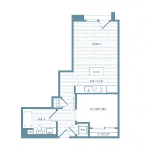 A12 | 1 bed 1 bath | from 606 square feet