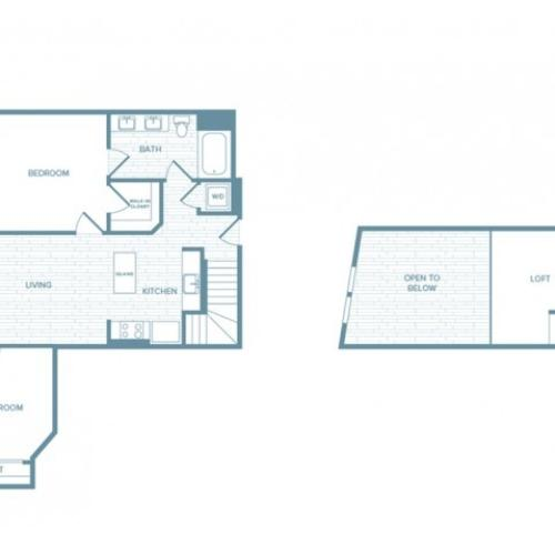 B09L | 2 bed 1 bath | from 1045 square feet