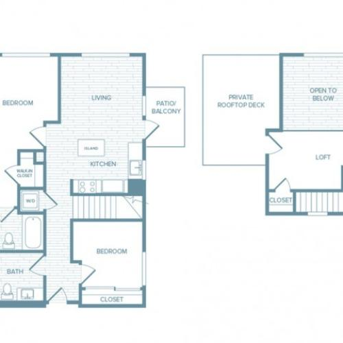 B03L | 2 bed 2 bath | from 1067 square feet