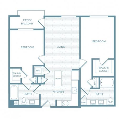 B06 | 2 bed 2 bath | from 1100 square feet