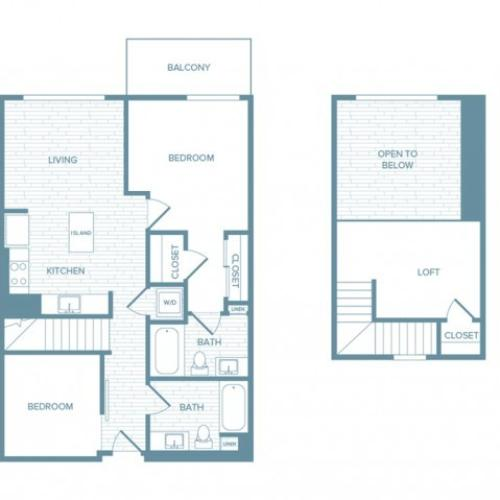 B12L | 2 bed 2 bath | from 1054 square feet
