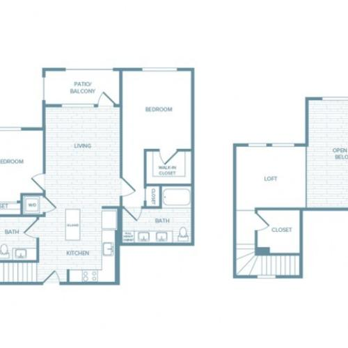 B02L | 2 bed 2 bath | from 1378 square feet