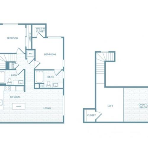 B05L | 2 bed 2 bath | from 1250 square feet