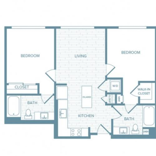 B08 | 2 bed 2 bath | from 938 square feet