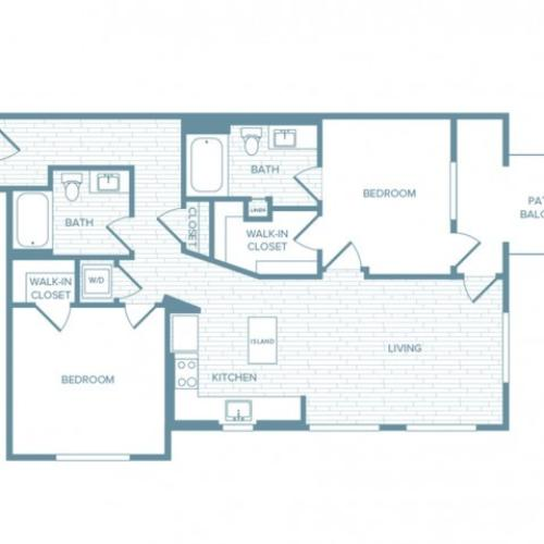B07 | 2 bed 2 bath | from 1196 square feet