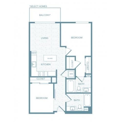 B12 | 2 bed 2 bath | from 898 square feet