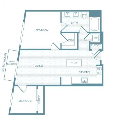 B09 | 2 bed 1 bath | from 911 square feet